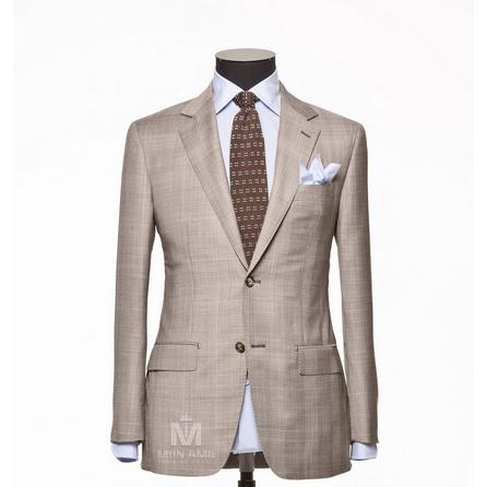 Glencheck Beige Notch Label Suit 71112DT7001