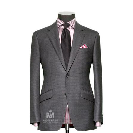 Plain Grey Notch Label Suit 71137DT7001