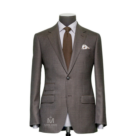Plain Brown Notch Label Suit 624DT60777