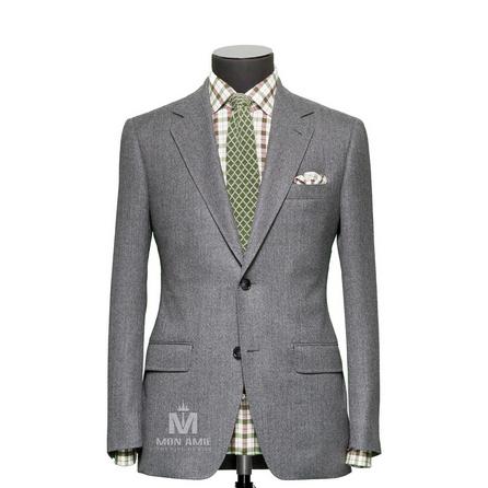 Plain Grey Notch Label Suit 624DT60702