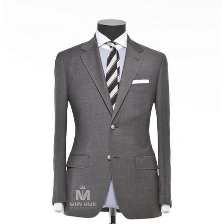 Plain Grey Notch Label Suit 624DT60746