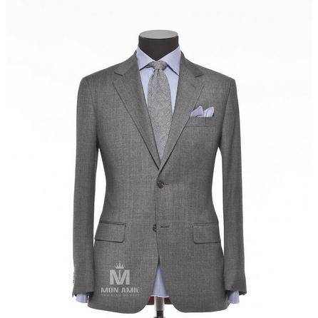 Plain Grey Notch Label Suit 624DT60745
