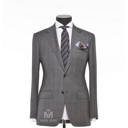 Glencheck Grey Notch Label Suit 71123SB02
