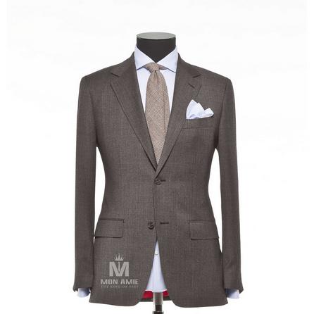Plain Grey Notch Label Suit 624DT60760