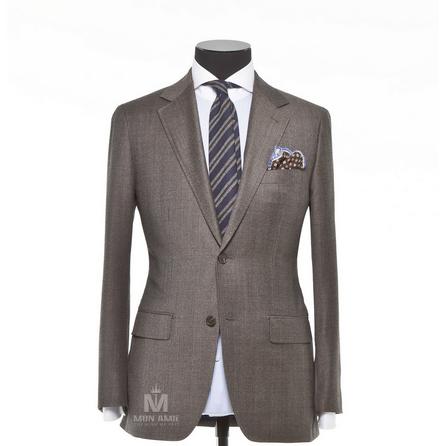 Glencheck Grey Notch Label Suit 703SB787
