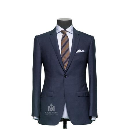 Plain Blue Notch Label Suit 625DT60907