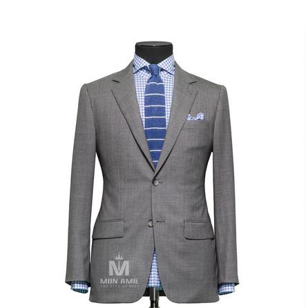 Plain Grey Notch Label Suit 624DT60744