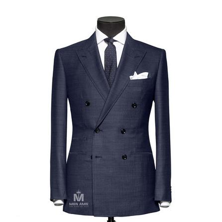 Plain Blue Peak Label Suit 624DT60751