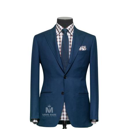 Plain Blue Notch Label Suit  TUVDT5029