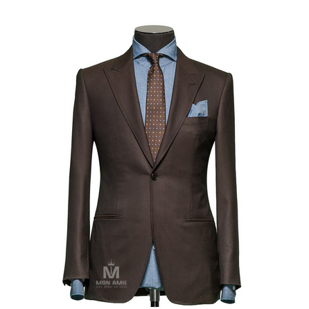 Plain Brown Peak Label Suit 1134ZCE0001