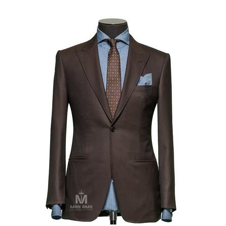 Plain Brown Peak Label Suit 1134ZCE0001