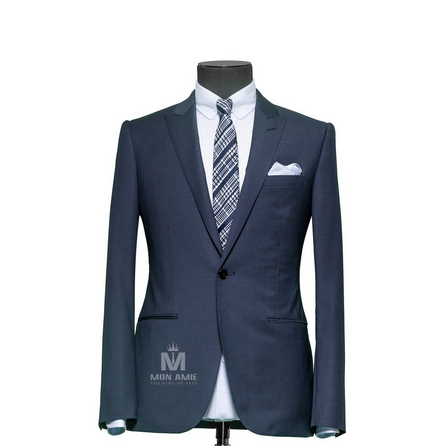Houndstooth Blue Peak Label Suit 6964CE0013