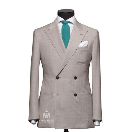 Houndstooth Grey Peak Label Suit 1984CE0015