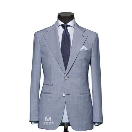 Check Blue Notch Label Suit 624DT60779