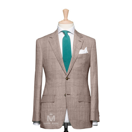 Glencheck Brown  Suit 7140CE0036