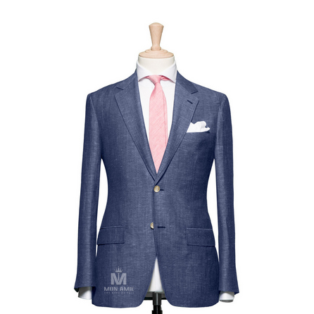 Plain Blue Notch Label Suit 25000DT6013