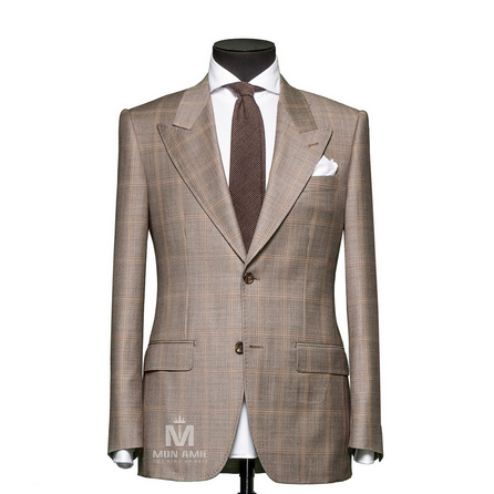 Sharkskin Check Peak Label Suit 789DT70072