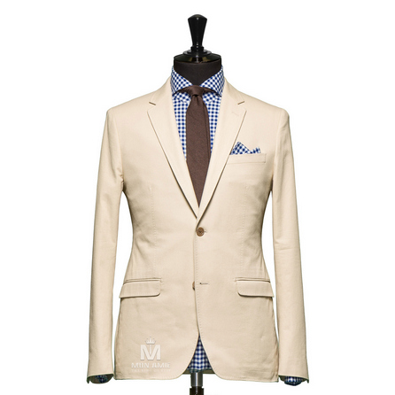 Plain Beige Notch Label Suit 624DT60753