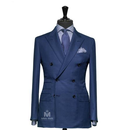 Sharkskin Blue Notch Label Suit 625DT60906