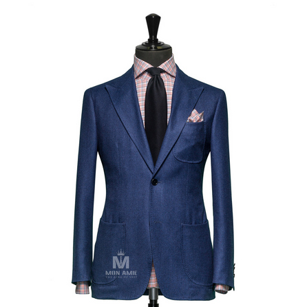 Plain Blue Peak Label Suit  6964CE0002