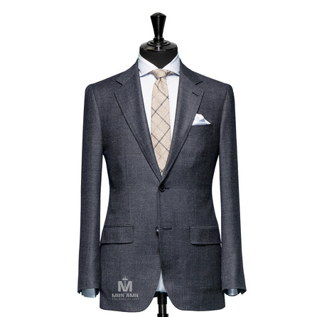 Birdseye Blue Notch Label Suit 71106DT7002