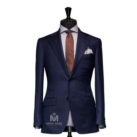 Plain Blue Notch Label Suit 625DT60903