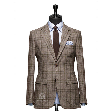 Glencheck Brown Notch Label Suit 71119DT7002
