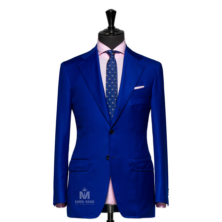 Plain Blue Notch Label Suit TUVDT5034