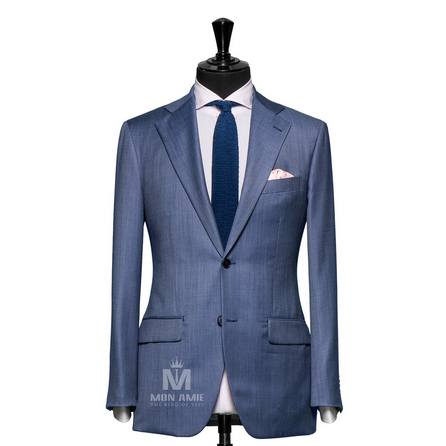 Plain Blue Notch Label Suit 624DT60748