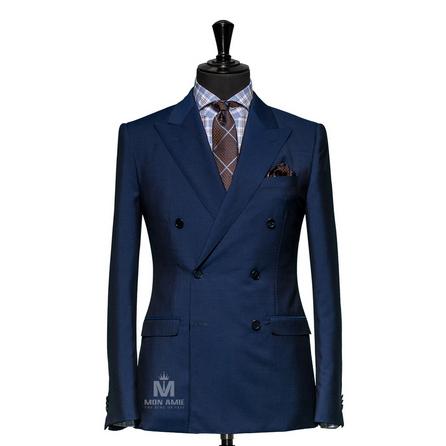 Plain Blue  Peak Label Suit  625DT60914