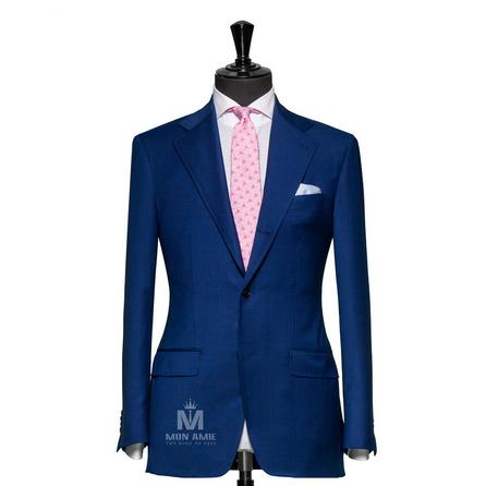Plain Blue Notch Label Suit 624DT60781