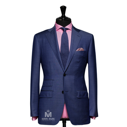 Plain Blue Notch Label Suit 71114DT7004