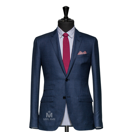 Birdseye Blue Notch Label Suit 624DT60782