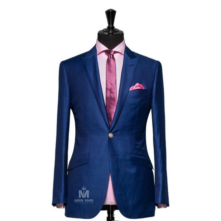 Plain Blue Peak Label Suit 625DT60903
