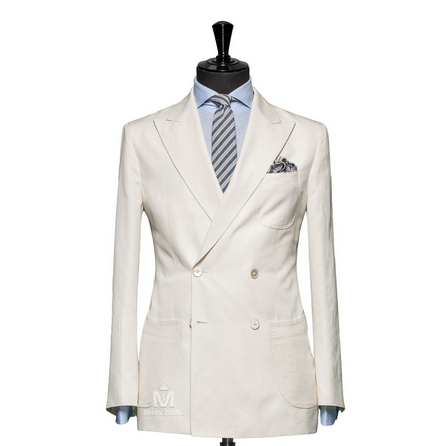 Plain White Peak Label Suit TUVDT5051