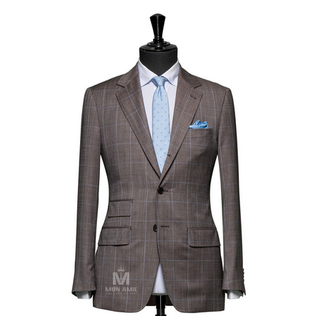 Check Brown Notch Label Suit 6965CE0281