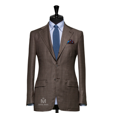 Plain Brown Notch Label Suit 25001DT6010