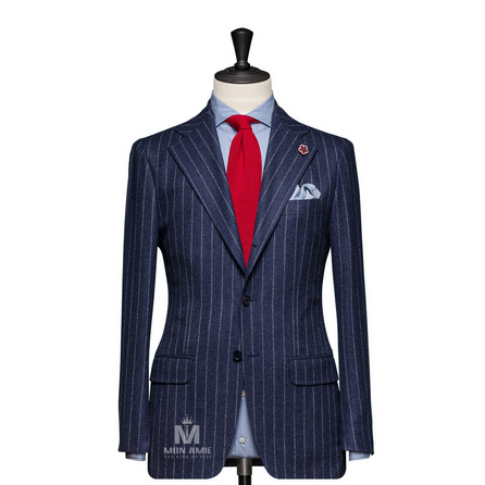 Stripes Blue Notch Label Suit BAR15044