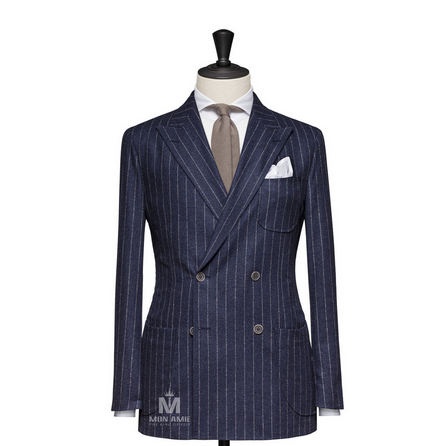Stripes Blue Peak Label Suit BAR15043