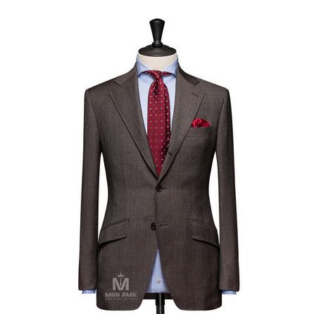 Glencheck Brown Notch Label Suit 624DT60784