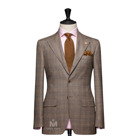 Glencheck Brown Notch Label Suit 13DT501502