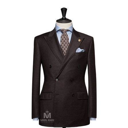 Plain Brown Peak Label Suit BAR18017