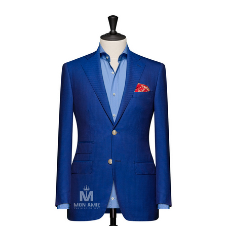 Pinstripe Blue Notch Label Suit 6965CE0309