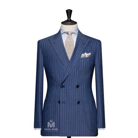 Stripe Blue Peak Label Suit 6965CE0294