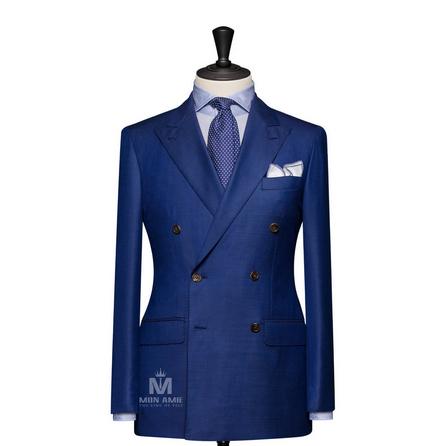 Plain Blue Peak Label Suit 723DT70724
