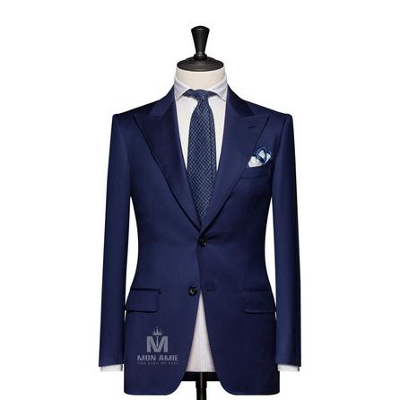 Plain Blue Peak Label Suit 625DT60915