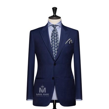 Plain Blue Peak Label Suit 625DT60926