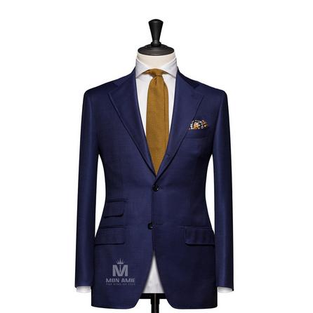 Plain Blue Notch Label Suit 625DT60926