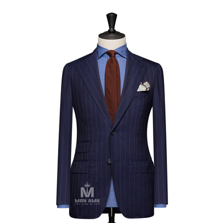 Stripe Blue Notch Label Suit 6965CE0310