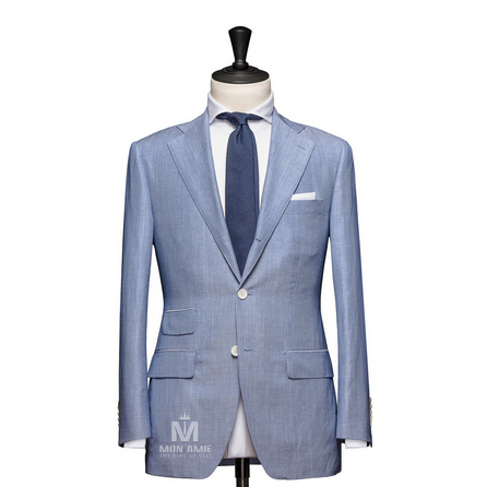 Stripe Blue Notch Label Suit 624DT60741